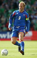 Photo: Andrew Unwin.<br /> Northern Ireland v Iceland. European Championships 2008 Qualifying. 02/09/2006.<br /> Iceland's Eidur Gudjohnsen.