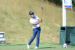 July 8, 2018 - White Sulphur Springs, WV, U.S. - WHITE SULPHUR SPRINGS, WV - JULY 08: Kevin Na hits his tee shot on the 14th hole during the final round of the Military Tribute at the Greenbrier in White Sulphur Springs, WV, on July 8, 2018.(Photo by Brian Bishop/Icon Sportswire) (Credit Image: © Brian Bishop/Icon SMI via ZUMA Press)