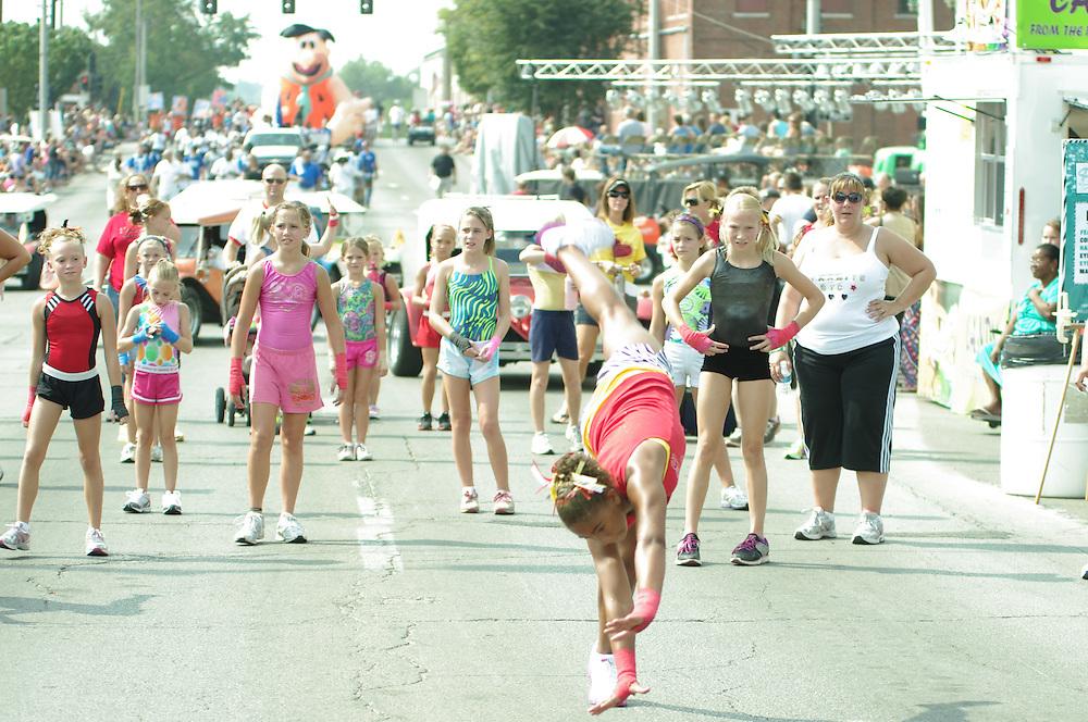 Razzle Dazzle Good Times Parade at  Decatur Celebration, Decatur, Illinois, August 4, 2012. Photo: George Strohl