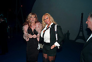 FATIMA BARBOSA; JULIE PATSALIDES, Grey Goose character and cocktails. The Elton John Aids Foundation Winter Ball. off Nine Elms Lane. London SW8. 30 October 2010. -DO NOT ARCHIVE-© Copyright Photograph by Dafydd Jones. 248 Clapham Rd. London SW9 0PZ. Tel 0207 820 0771. www.dafjones.com.