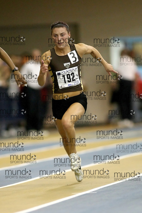 Windsor, Ontario ---12/03/09--- Caley Miskimmin of  the University of Manitoba competes in the 60m prelims at the CIS track and field championships in Windsor, Ontario, March 12, 2009..Sean Burges Mundo Sport Images