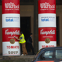 EDINBURGH, UNITED KINGDOM - JULY 31: Final touches at National Gallery of Scotland to mark an upcoming Andy Warhol exhibition, coinciding with the 20th anniversary of the artist's death, on July 31, 2007 in Edinburgh, Scotland. This major exhibition is the most comprehensive show dedicated to the work of the artist shown in Scotland.