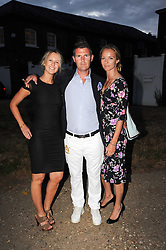 Left to right, ALICE BRUDENELL-BRUCE,  and CAROLINE HICKMAN leaving a summer party hosted by Lady Annabel Goldsmith at her home Ormeley Lodge, Ham Gate, Richmond on 13th July 2010.