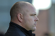 Jim Bentley Morecambe Manager during the EFL Sky Bet League 2 match between Morecambe and Carlisle United at the Globe Arena, Morecambe, England on 8 October 2016. Photo by Pete Burns.