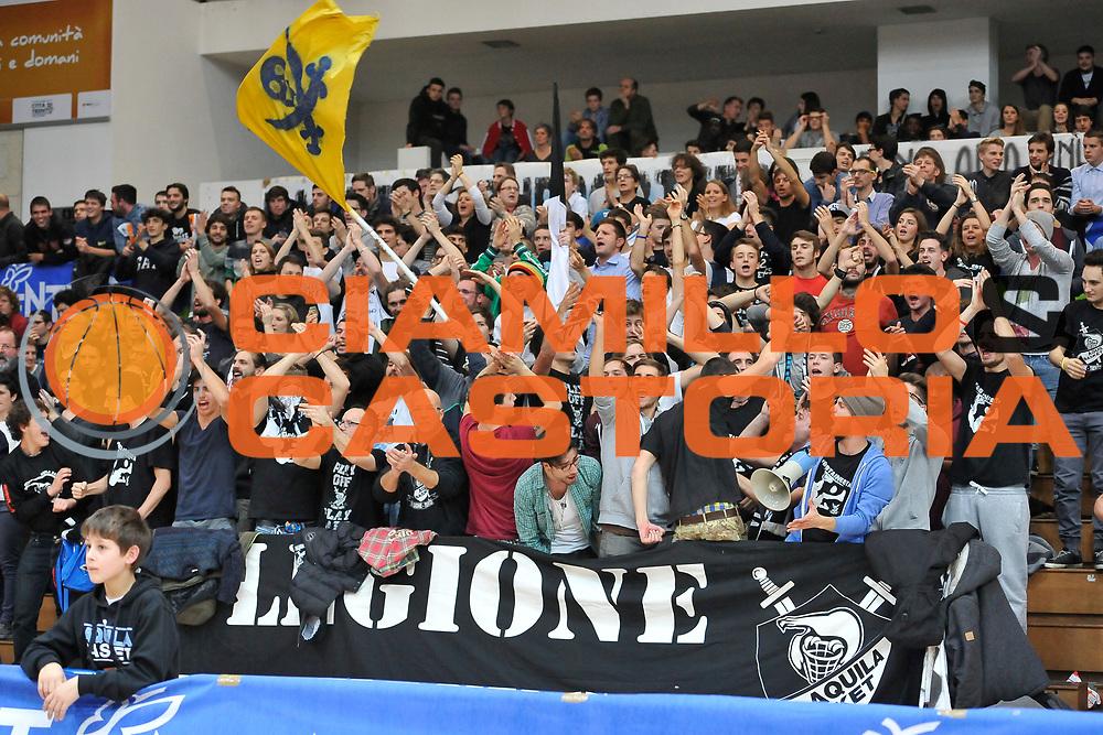 DESCRIZIONE : Campionato 2014/15 Dolomiti Energia Aquila Trento - Dinamo Banco di Sardegna Sassari<br /> GIOCATORE : Legione Bianconera<br /> CATEGORIA : Ultras Tifosi Pubblico Spettatori<br /> SQUADRA : Dolomiti Energia Aquila Trento<br /> EVENTO : LegaBasket Serie A Beko 2014/2015<br /> GARA : Dolomiti Energia Aquila Trento - Dinamo Banco di Sardegna Sassari<br /> DATA : 15/12/2014<br /> SPORT : Pallacanestro <br /> AUTORE : Agenzia Ciamillo-Castoria / Luigi Canu<br /> Galleria : LegaBasket Serie A Beko 2014/2015<br /> Fotonotizia : Campionato 2014/15 Dolomiti Energia Aquila Trento - Dinamo Banco di Sardegna Sassari<br /> Predefinita :