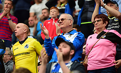 Bristol Rovers fans. - Mandatory by-line: Alex James/JMP - 21/04/2018 - FOOTBALL - Aesseal New York Stadium - Rotherham, England - Rotherham United v Bristol Rovers - Sky Bet League One