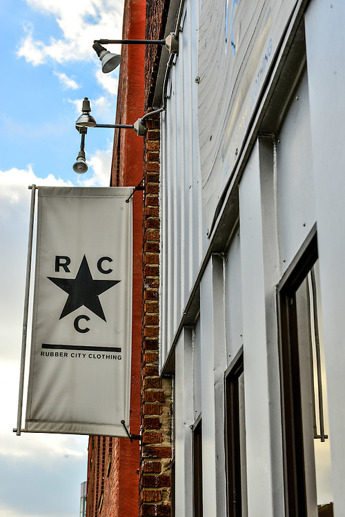 Exterior of Rubber City Clothing.