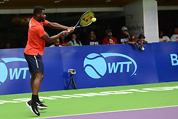 July 16, 2018 - Washington D.C, United States - FRANCES TIAFOE in World Team Tennis action for the Washington Kastles. (Credit Image: © Christopher Levy via ZUMA Wire)