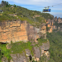 Scenic Skyway at Scenic World in Katoomba in Blue Mountains, Australia<br />