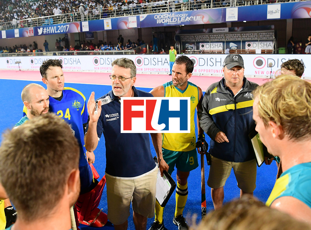 Odisha Men's Hockey World League Final Bhubaneswar 2017<br /> Match id:22<br /> Argentina v Australia Final<br /> Foto: coach Colin Batch (Aus) <br /> COPYRIGHT WORLDSPORTPICS FRANK UIJLENBROEK
