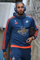 Ashley Williams of Swansea City arrives at Selhurst Park - Mandatory byline: Jason Brown/JMP - 07966386802 - 28/12/2015 - FOOTBALL - London - Selhurst Park - Crystal Palace v Swansea City - Barclays Premier League