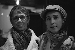 Corey and her Mom at Drinks, Dialogue, and Decent at Shaw's Tavern directly after the Women's March on Washington, D.C. in Washington, D.C.
