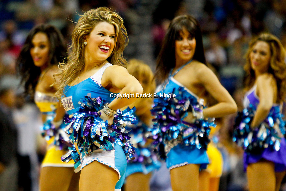 November 2, 2012; New Orleans, LA, USA; New Orleans Hornets Honeybees dancers perform during the second half of a game against the Utah Jazz at the New Orleans Arena. The Hornets defeated the Jazz 88-86. Mandatory Credit: Derick E. Hingle-US PRESSWIRE