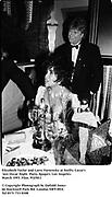Elizabeth taylor and Larry Fortensky at Swifty Lazar's last Oscar Night  Party. Spago's. Los Angeles. March 1993. Film. 93250/1<br /><br />© Copyright Photograph by Dafydd Jones<br />66 Stockwell Park Rd. London SW9 0DA<br />Tel 0171 733 0108