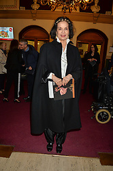 BIANCA JAGGER arriving at Swan Lake at The Royal Albert Hall, London on 2nd June 2016.