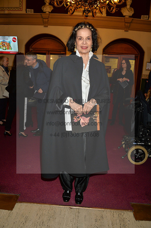 BIANCA JAGGER arriving at Swan Lake at The Royal Albert Hall, London on 2nd June 2016.