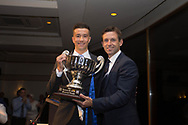 - Cammy Kerr receives the Andrew De Vries Trophy as the club's official player of the year from Dundee&rsquo;s interim manager Neil McCann  during the DSA player of the year dinner at Invercasrse Hotel, Dundee, Photo by David Young<br /> <br /> <br />  - &copy; David Young - www.davidyoungphoto.co.uk - email: davidyoungphoto@gmail.com