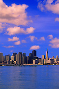 Image of the San Francisco skyline from Treasure Island, San Francisco, California