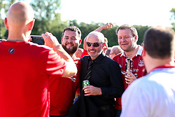Aberdeen Chairman Stewart Milne meets fans ahead of the UEFA Europa League Second Qualifier, 2nd Leg tie at Burnley - Mandatory by-line: Robbie Stephenson/JMP - 02/08/2018 - FOOTBALL - Turf Moor - Burnley, England - Burnley v Aberdeen - UEFA Europa League Second Qualifier, 2nd Leg