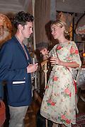 JACK LOSH; GENIA MINEEVA, Afternoon tea to  celebrate the addition of the Naked Heart Dessert to Russian restaurant Mari Vanna's menu,  Mari Vanna, 116 Knightsbridge, London, SW1X 7PJ. August 29 2012.