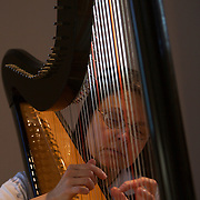 Sister Kathleen O'Neill practices her harp daily at Our Lady of the Mississippi Abbey, a monastery of Trappist nuns.  O'Neill plays at many of the daily services.  .The community of 22 Roman Catholic women follow Jesus Christ through a life of prayer, silence, simplicity and ordinary work.  Their home is a beautiful monastery which sits high on a bluff, overlooking the Mississippi River.