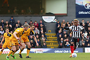Grimsby Town midfielder Siriki Dembele (27) on the ball during the EFL Sky Bet League 2 match between Grimsby Town FC and Port Vale at Blundell Park, Grimsby, United Kingdom on 10 March 2018. Picture by Mick Atkins.