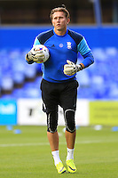 Birmingham City goalkeeper Tomasz Kuszczak during the warm up
