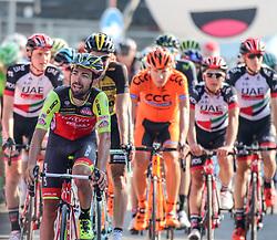 26.05.2017, Piancavallo, ITA, Giro d Italia 2017, 19. Etappe, Innichen (San Candido) nach Piancavallo, im Bild der Zieleinlauf des Gruppettos // Gruppetto in the finish area during the 19 th stage of the 100 th Giro d Italia cycling race from Innichen (San Candido) to Piancavallo, Italy on 2017/05/26. EXPA Pictures © 2017, PhotoCredit: EXPA / Martin Huber