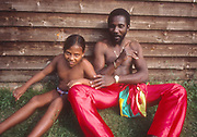 Toots and daughter in the UK 1981