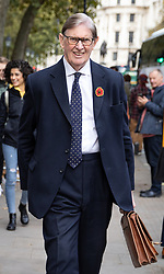 © Licensed to London News Pictures. 28/10/2019. London, UK. Bill Cash MP walks through Westminster. Photo credit : Tom Nicholson/LNP