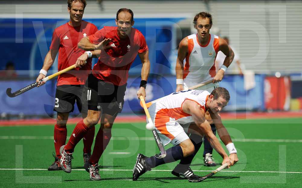 Beijing Olympic Green Hockey Stadium - Hockey.Netherlands - Canada men 4-2.Ronald Brouwer, backhand on goal without scoring..photo:wsp/Frank Uijlenbroek.