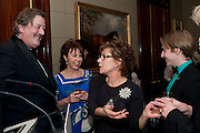 STEPHEN FRY; KATHY LETTE;  ZOE WANAMAKER; STEVEN WEBB, Veuve Clicquot Tribute award dinner for Ruby Wax for her outstanding contribution to the greater understanding of mental illness in the UK. Berkeley Hotel, London. 25 November 2011.