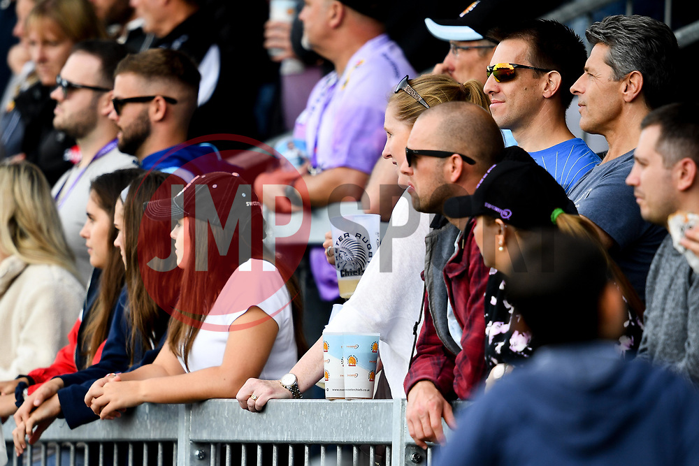 Exeter Chiefs fans  - Mandatory by-line: Ryan Hiscott/JMP - 21/09/2019 - RUGBY - Sandy Park - Exeter, England - Exeter Chiefs v Bath Rugby - Premiership Rugby Cup
