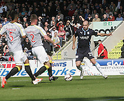 Gary Harkins runs at the St Mirren defence - St Mirren v Dundee, SPFL Premiership at St Mirren Park<br /> <br />  - &copy; David Young - www.davidyoungphoto.co.uk - email: davidyoungphoto@gmail.com