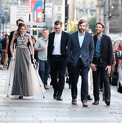 Edinburgh International Film Festival 2019<br /> <br /> Liberte: A Call To Spy (World Premiere)<br /> <br /> Pictured: Producer, writer & actor Sarah Megan Thomas, Marc Rissman (right) and Rossif Sutherland (2nd right)<br /> <br /> Alex Todd | Edinburgh Elite media
