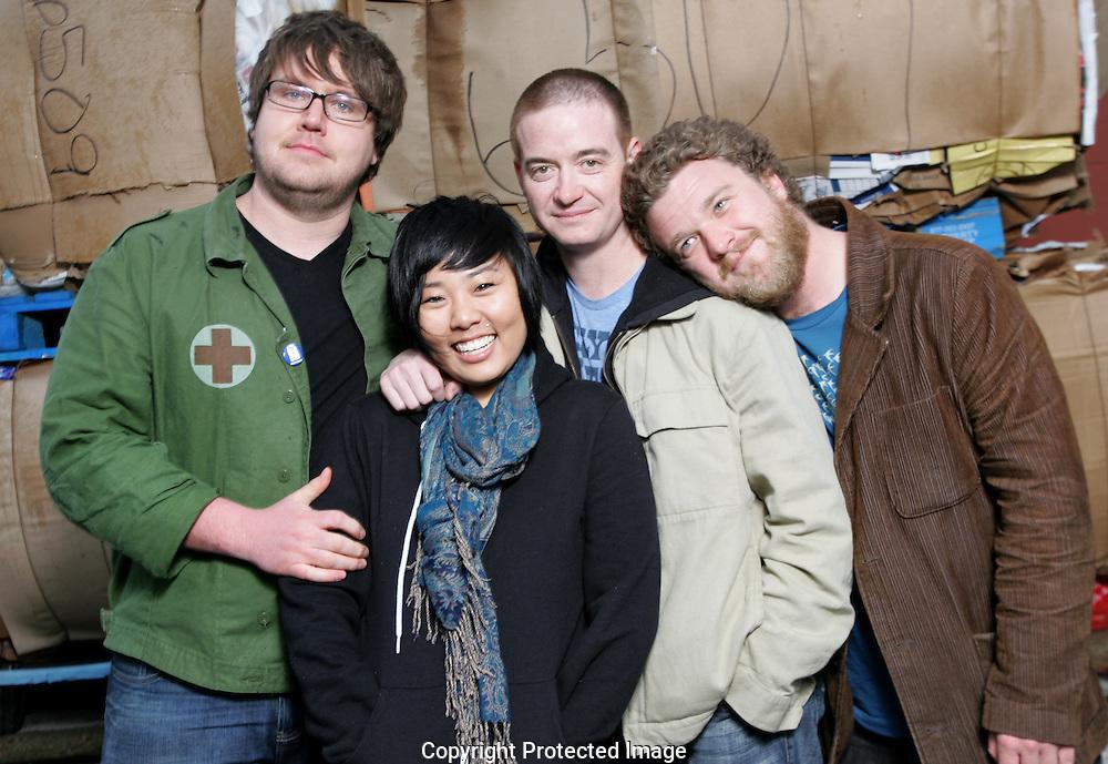 Columbus Band Ghost Shirt.(Left to Right) Branden Barnett, Sam Kim, Ryan Haye and David Murphy. (Jodi Miller/Alive)