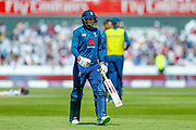 England ODI batsman Joe Root is out for one run off the bowling of Australia ODI bowler Billy Stanlake  during the 5th One Day International match between England and Australia at Old Trafford, Manchester, England on 24 June 2018. Picture by Simon Davies.