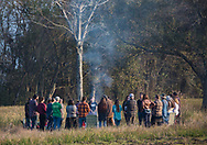 Blessing ceremony for land in the proposed route of the Bayou Bridge pipeline in Rayne, Louisiana.