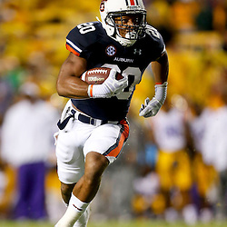 Sep 21, 2013; Baton Rouge, LA, USA; Auburn Tigers running back Corey Grant (20) against the LSU Tigers during the second half of a game at Tiger Stadium. LSU defeated Auburn 35-21. Mandatory Credit: Derick E. Hingle-USA TODAY Sports