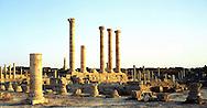 Libia  Sabratha .Città  romana a circa 67km da Tripoli. Il foro romano.<br /> Sabratha Libya.Roman city about 67km from Tripoli.<br /> The roman forum