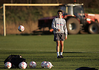 Photo: Paul Thomas.<br /> England training session. 05/02/2007.<br /> <br /> Joey Barton during England training.