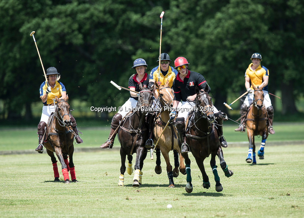 Polo action at Hurtwood Park Polo Club Surrey on the 25th May 2014.© Credit: Leigh Dawney Photography 2014.