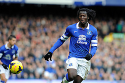 Everton's Romelu Lukaku - Photo mandatory by-line: Dougie Allward/JMP - Tel: Mobile: 07966 386802 23/11/2013 - SPORT - Football - Liverpool - Merseyside derby - Goodison Park - Everton v Liverpool - Barclays Premier League