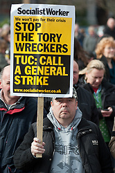 Demonstration starting at Devonshire Green Sheffield before moving through Sheffield City Centre to Barkers Pool outside Sheffield city Hall where the Liberal Democrats are holding their Party conference Conference Sheffield Saturday.12 March 2011.Images © Paul David Drabble