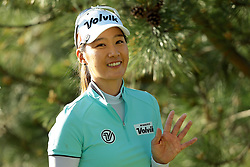 May 25, 2018 - Surrey, Michigan, United Kingdom - Chella Choi of Korea waves on the way to the second tee during the second round of the LPGA Volvik Championship at Travis Pointe Country Club, Ann Arbor, MI, USA Friday, May 25, 2018. (Credit Image: © Jorge Lemus/NurPhoto via ZUMA Press)