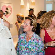 NLD/Amsterdam/20160825 - Life after Football Art Issue launch, Pieter Storms en partner Nina Brink