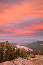 """Donner Lake Sunset 23"" - This sunset was photographed above Donner Lake and Truckee, California."