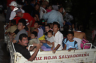 Residents of Zamorano, El Bajo Lempa in El Salvador are Usulutan relief agency evacuated Monday October 17, 2011. Tropical Depression 12E broke the record in accumulated rainfall 1256 millimeters thirty-two caused victims and plus thirty-two thousand people evacuated two hundred lodges. Low Lempa suffers from discharges from hydroelectric dams and seven thousand cubic meters per second. Photo: Carlos Ramos/Imagenes Libres.
