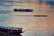 Laos. Luang Prabang. Sunset at the Mekong.