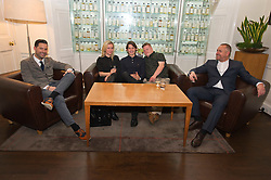 Pictured: Writer Duncan Paveling, Director Jane Gull, Will Rastall, Stephen Brandon and producer James Rumsey<br /> <br /> Some of the cast and those behind the scenes of My Feral Heart gathered in the Scotch Whisky Society in Edinburgh to relax ahead of the UK Premier of their film at the Edinburgh International Film Festival. Directed by Jane Gull, My Feral Heart stars Stephen Brandon in his debut as Luke, Will Rastall, Shana Swash, Eileen Polliock, Suzanna Hamilton and Pixie Le Knot.<br /> <br /> When Luke, an independent and sensitive young man with Down's syndrome is forced to live in a care home after his elderly mother dies, he struggles to settle. Frustrated by having his wings clipped by unfamiliar rules; totally unimpressed by his new housemates and grieving for his Mum - his disappointment soon turns to wonder when Luke discovers a way out and begins to explore the surrounding countryside. When he is caught sneaking out by Pete, a troubled youth who tends the gardens at the Home, they strike up an unlikely rapport: Pete covers for Luke when he sneaks out and in return Luke helps Pete clear the garden. On an illicit excursion to the adjoining field Luke discovers a young injured girl in desperate need of his help.<br /> <br /> <br /> Ger Harley   EEm 17 June  2016